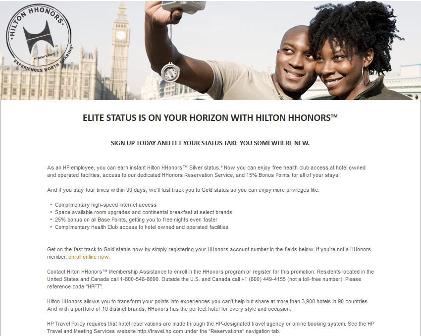 Darmowy status Silver i łatwy do zdobycia Gold w Hilton HHonors