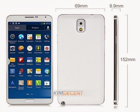 Chinese Samsung Galaxy Note 3 Clone