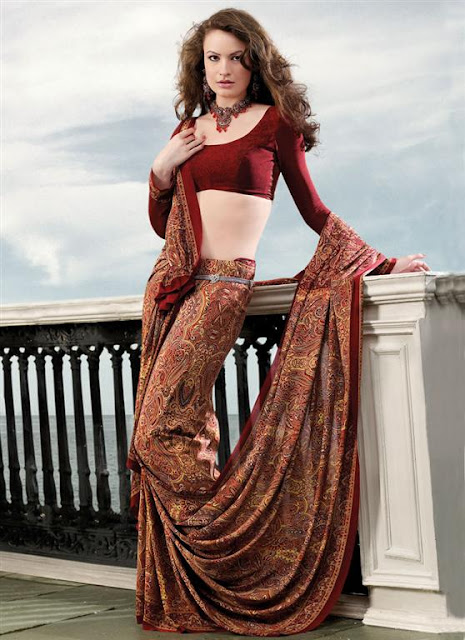 Fancy Saree Blouse Designs 2012