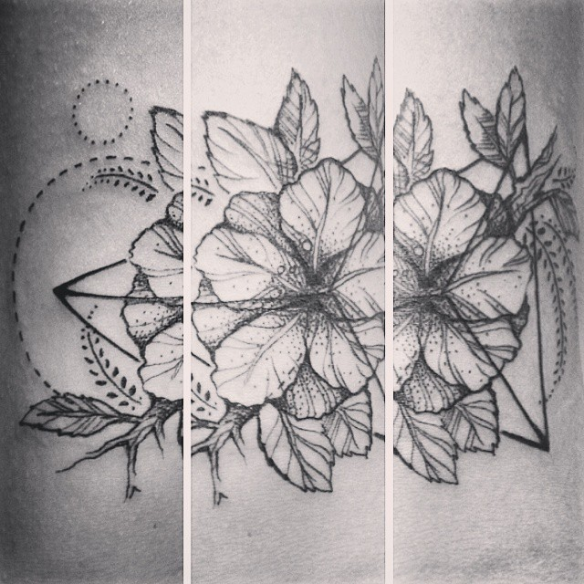 Tatuagem de Hibisco - Tattoos
