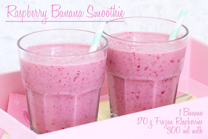 Recipe: Banana Raspberry Smoothie