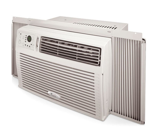 Whirlpool air conditioning whirlpool 8000 btu window air for Window unit air conditioner