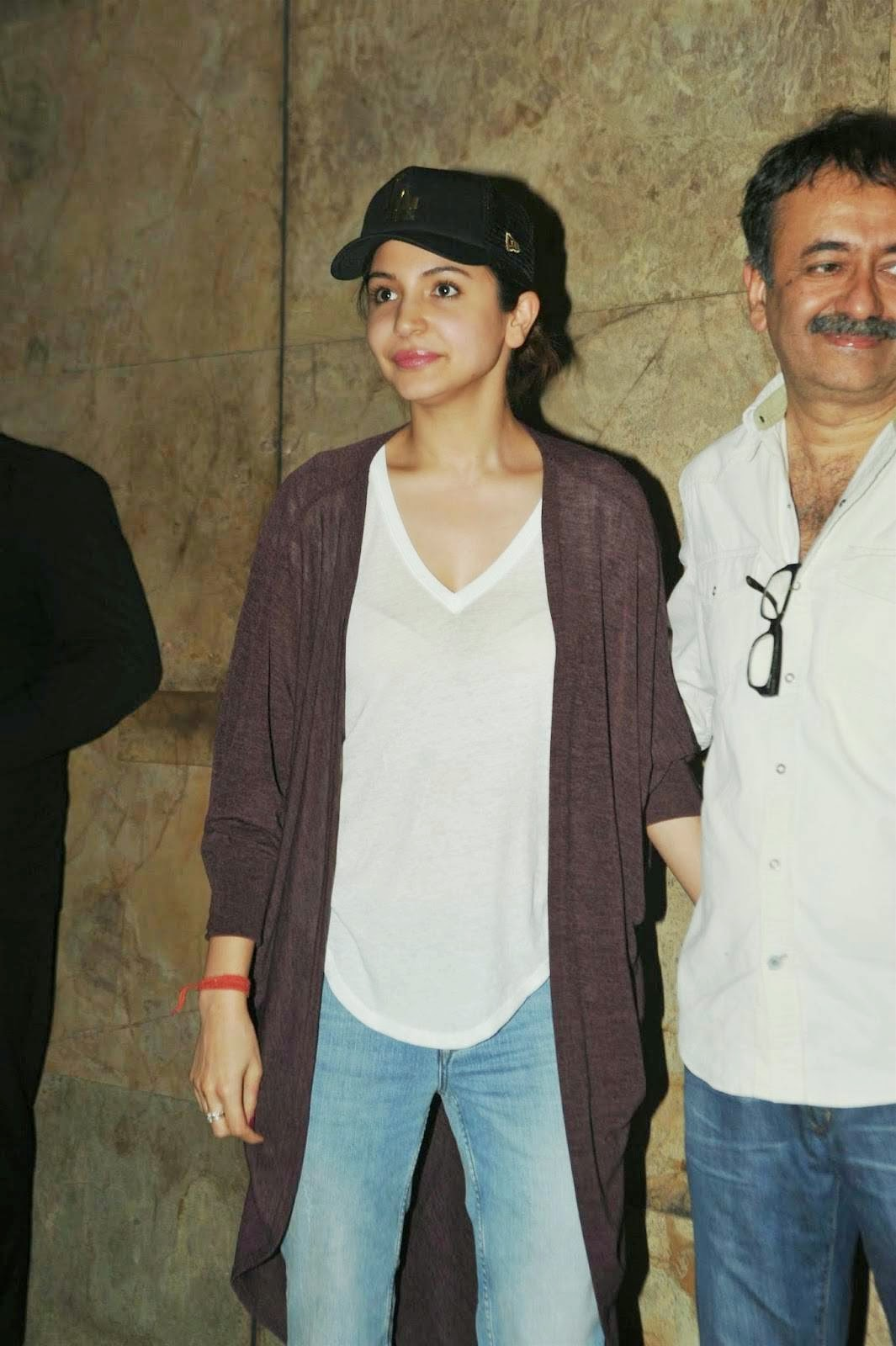 Anushka Sharma PK Movie Actress Hot Special Screening
