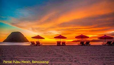 Sunset Pantai Pulau Merah, Banyuwangi