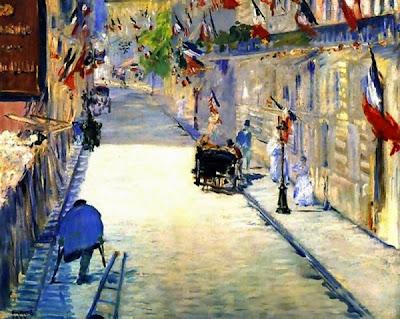 Carrer Mosnier decorat amb banderes (Édouard Manet)