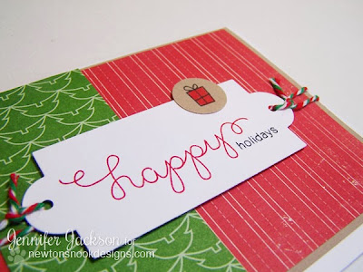 Simple Holiday Card by Newton's Nook Designs Using Holiday Wishes Stamp Set