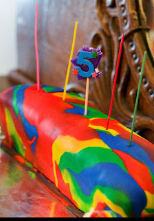 Rainbow Birthday Cake Surpise