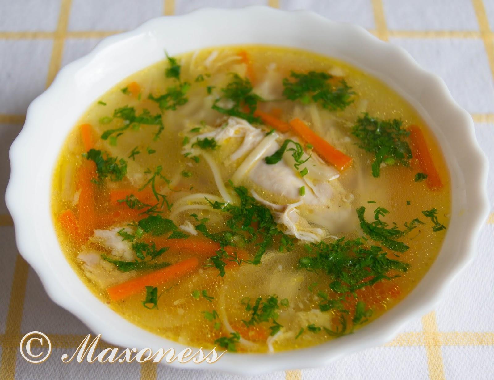 Суп-лапша с курицей. Русская кухня.