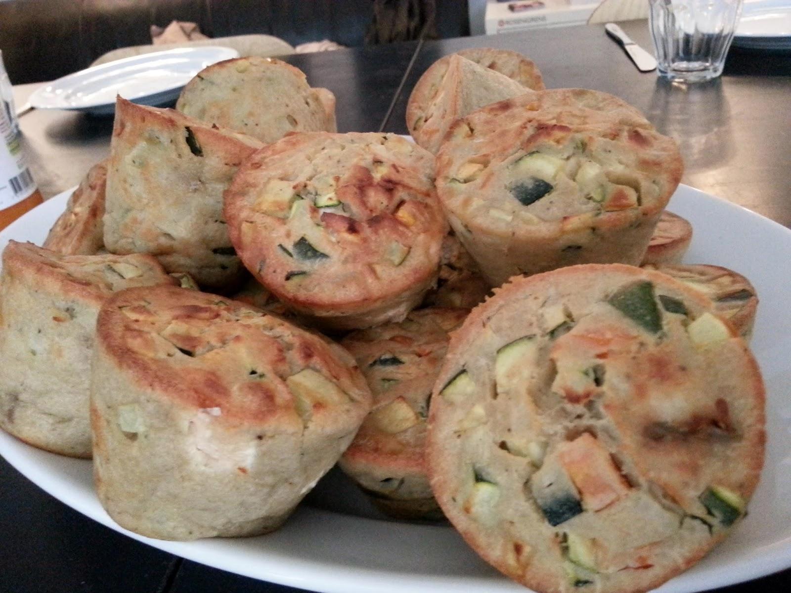 Madmuffins med rejer og grøntsager