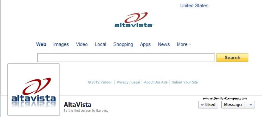 Altavista.com Facebook Timeline Page