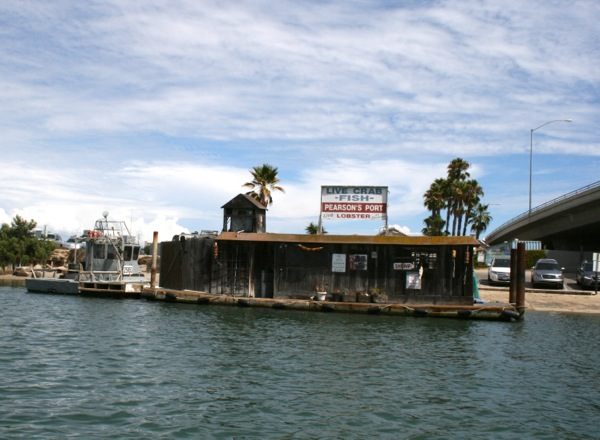 Pearson's Port fish shack Newport Beach Harbor