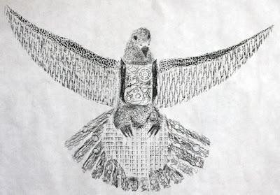 texture rubbing bird