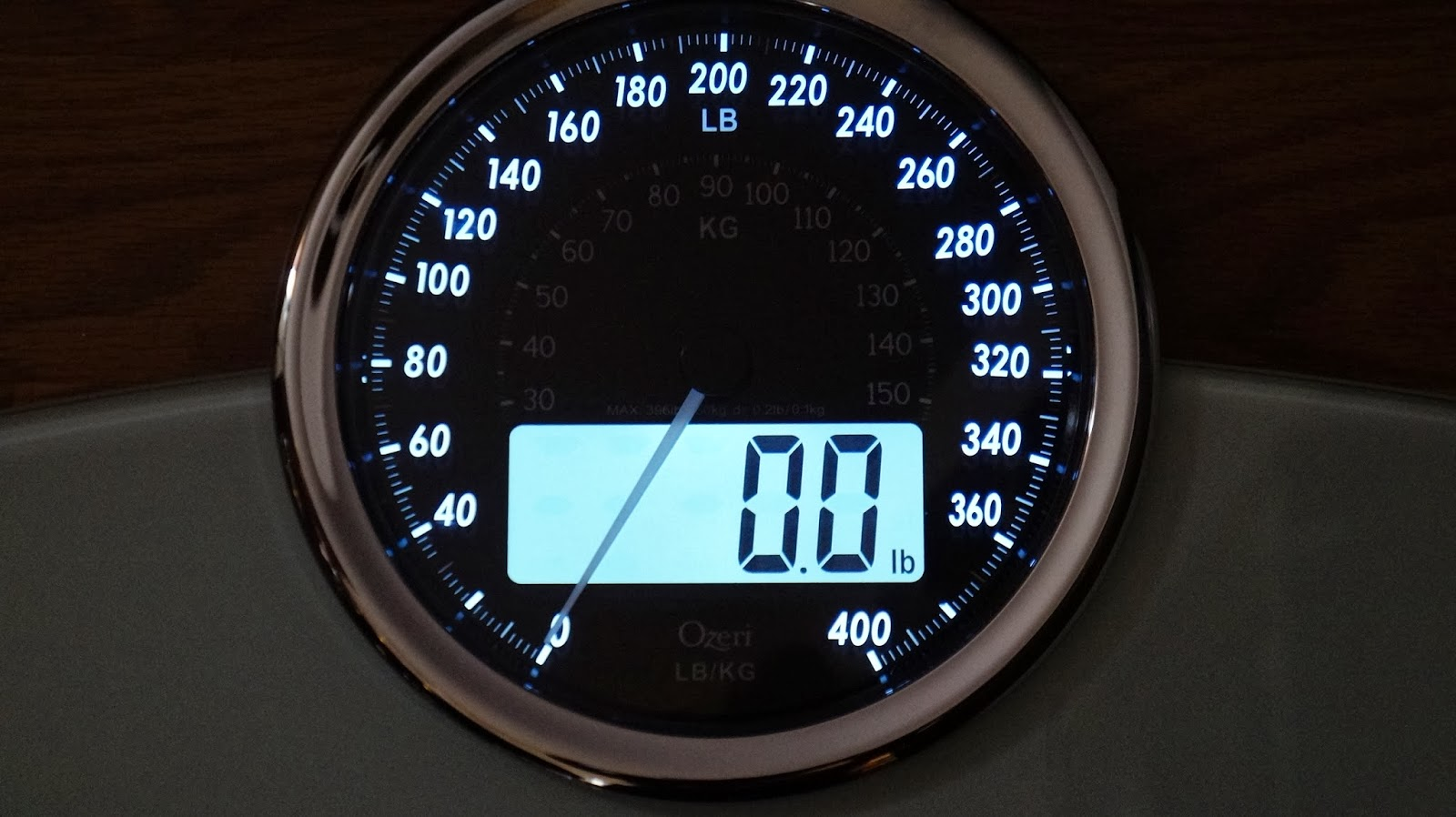 Ozeri Rev Digital Bathroom Scale with light up display