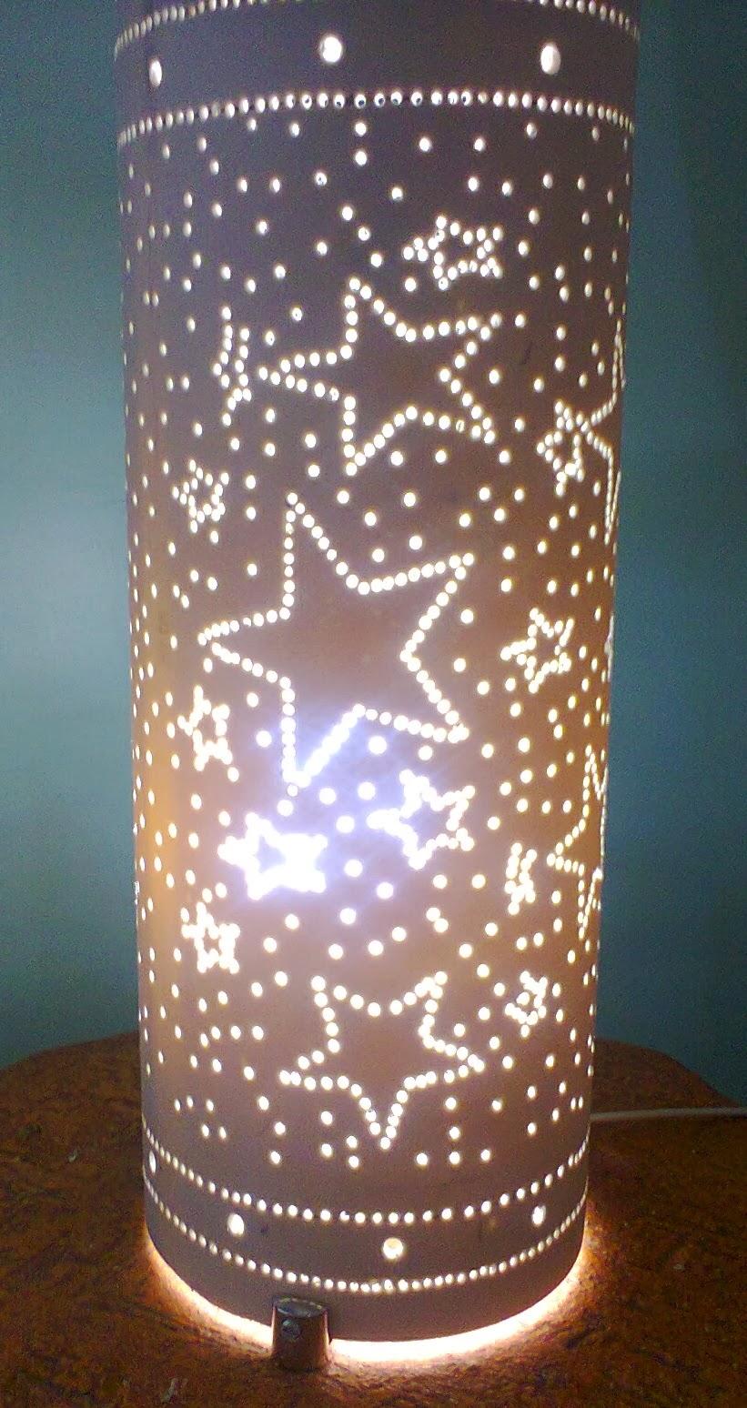 Artesanato Com Garrafa Pet Para Pascoa ~ ARTESANATO RECICLANDO MUNDO Luminária PVC Estrelas