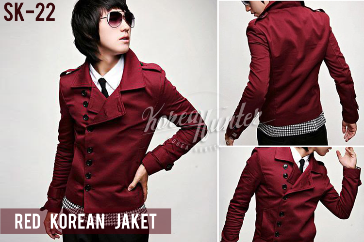 KOREA-HUNTER.com jual murah Red Korean Jacket | kaos crows zero tfoa | kemeja national geographic | tas denim korean style blazer