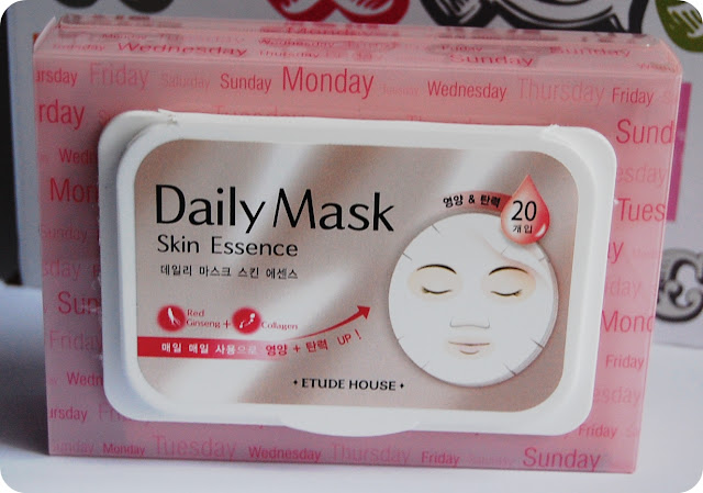 Etude House Skin Essence Daily Mask - Ginseng and Collagen