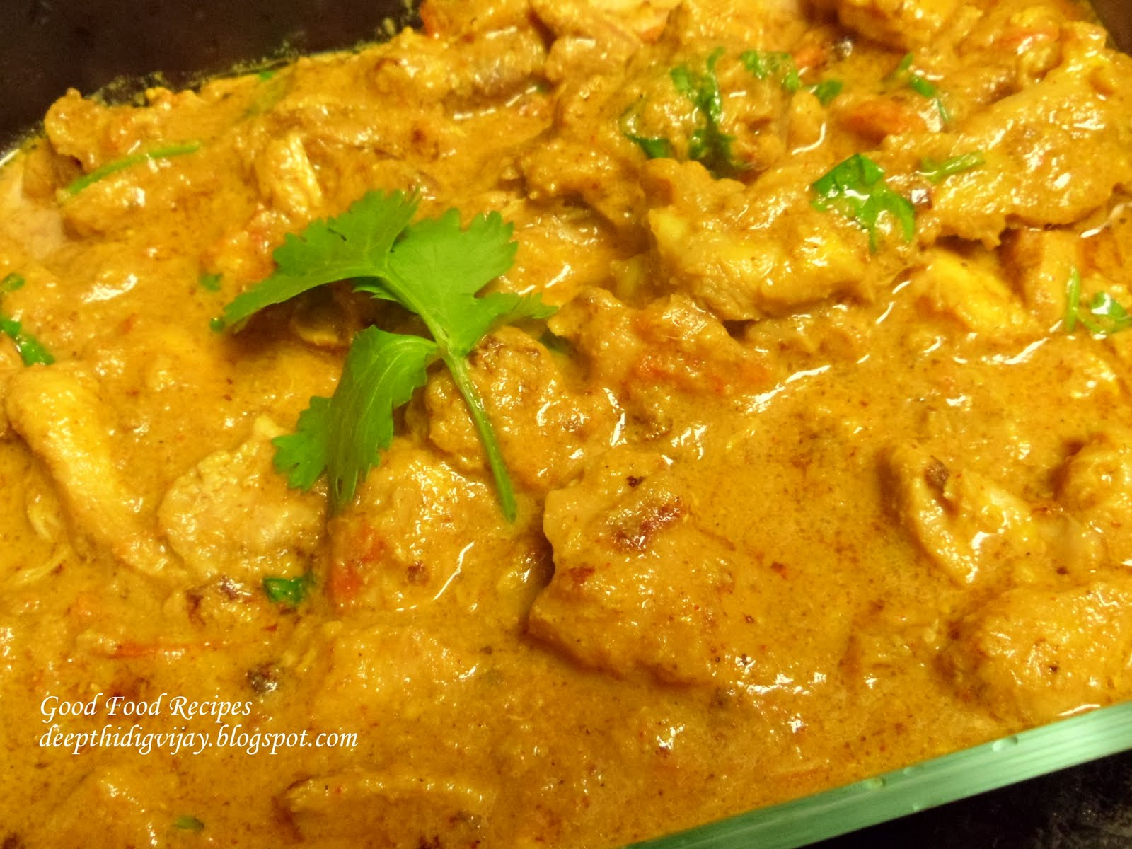 Chicken Pulusu Curry Chicken Coconut Milk Curry