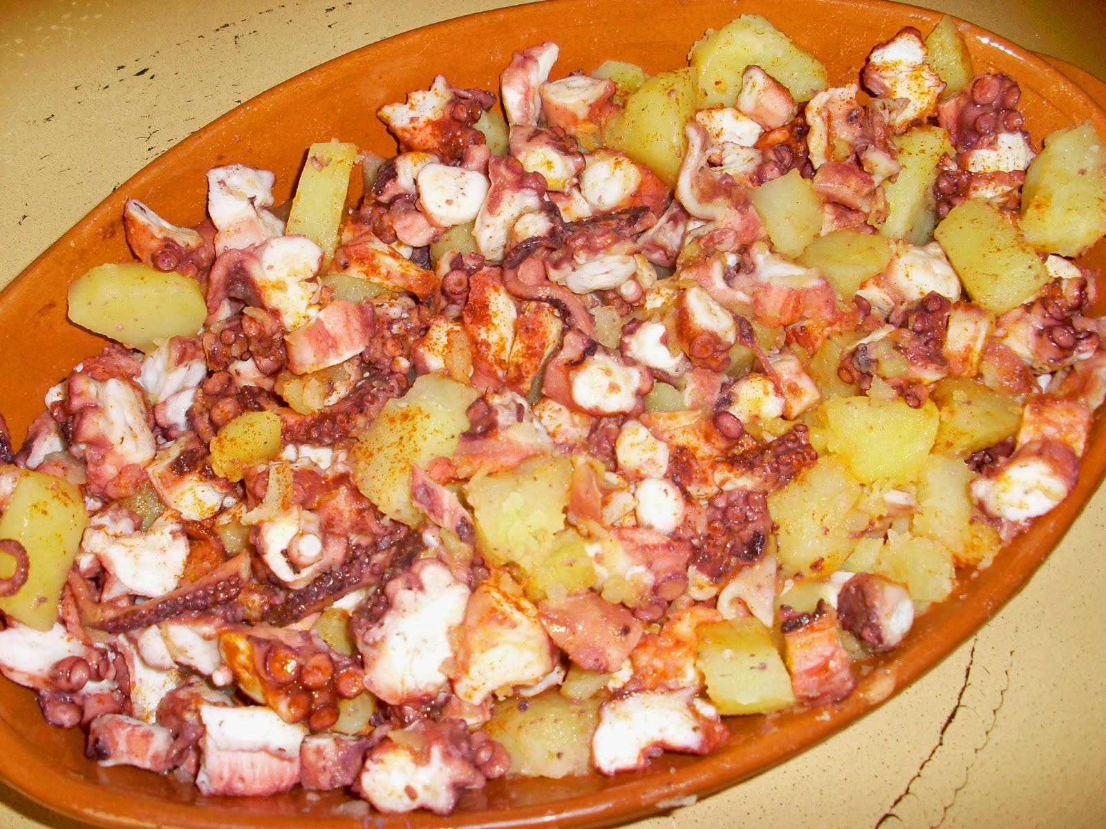 El blog de cocina f cil de estefan a pulpo con patatinas for Pulpo en olla express
