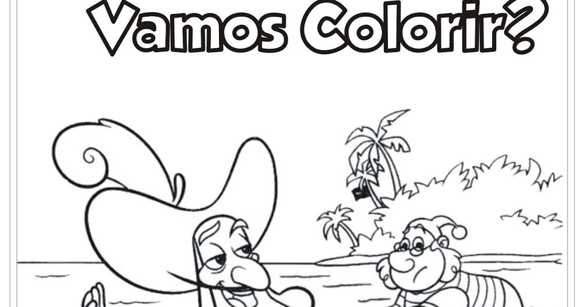 jake e os piratas da terra do nunca capitão gancho para colorir