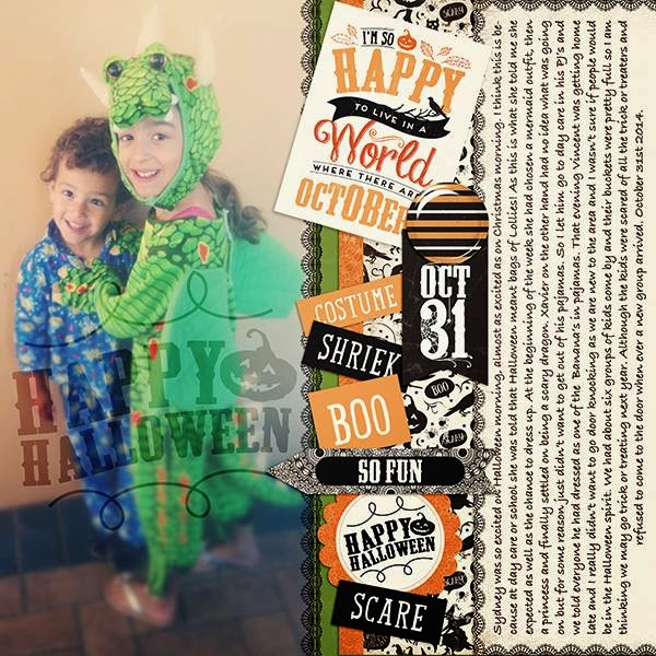 Layout by Samantha Kit-Fright by sweet caroline studio