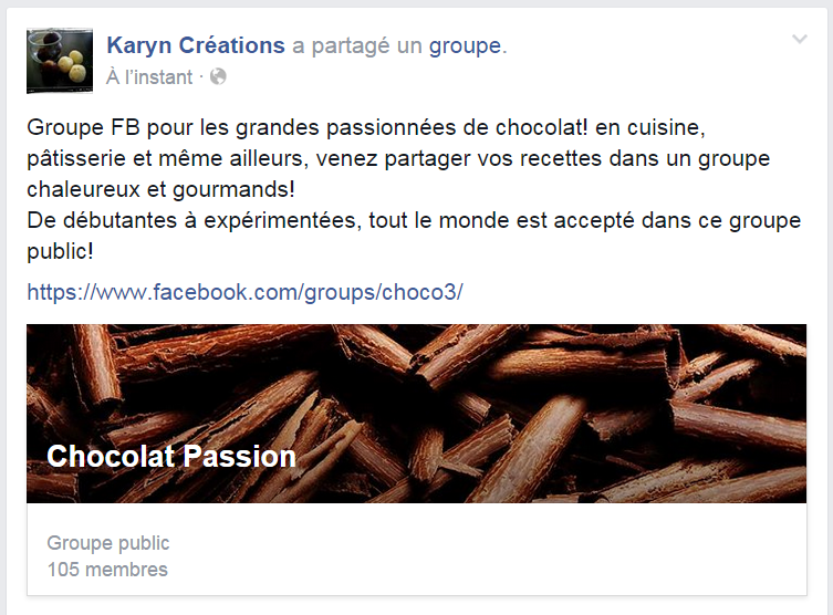 Groupe FB Chocolat Passion