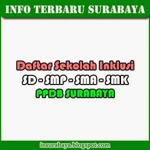 Daftar Sekolah Inklusi PPDB Surabaya 2014