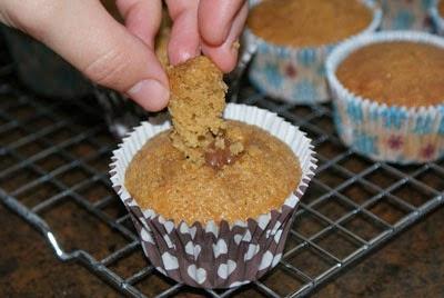 Trozo descorazonado de cupcake