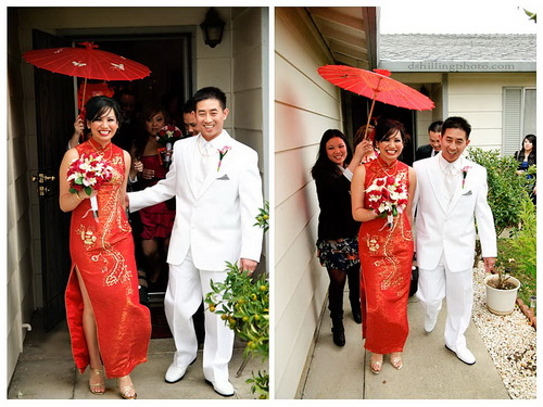 รับตัวเจ้าสาวในงานแต่งงานตามประเพณีจีน