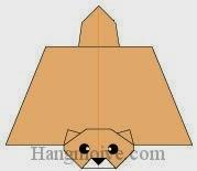 Bước 20: Vẽ mắt, mũi để hoàn thành cách gấp con sóc bay bằng giấy theo phong cách origami nghệ thuật.