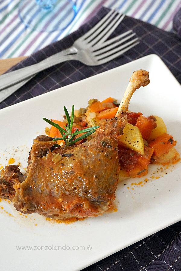 Come cucinare l'anatra, cosce d'anatra in umido ricetta - stewed duck recipe