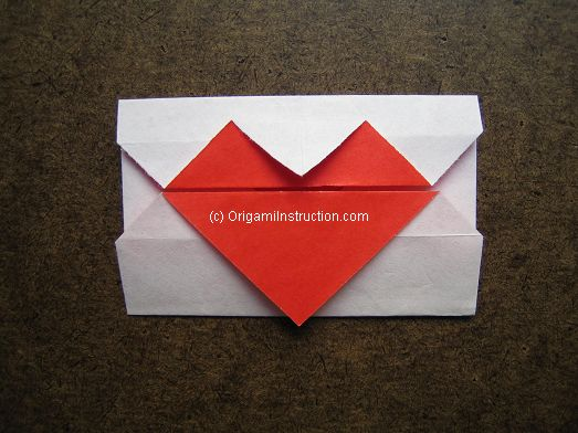 Origami Instruction Origami Simple Heart Envelope