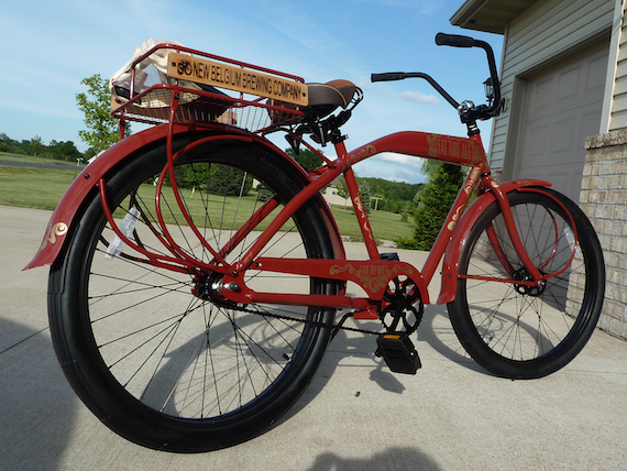 Rear view image of the Custom Fat Tire 2011 Anniversary bicycle by Felt Bicycle Company