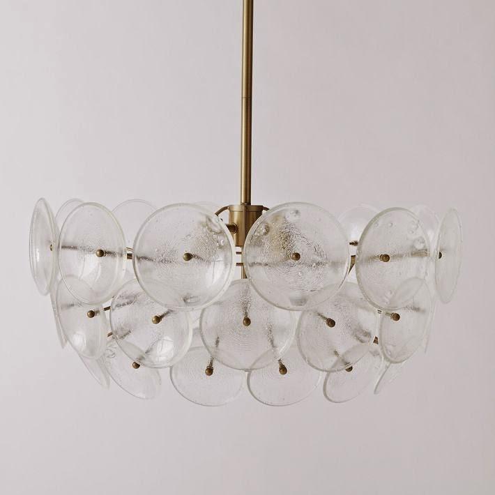 west elm lighting. Glass Disc Chandelier $499 West Elm Lighting L