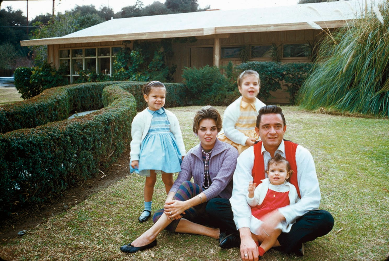A early Johnny Cash family portrait.