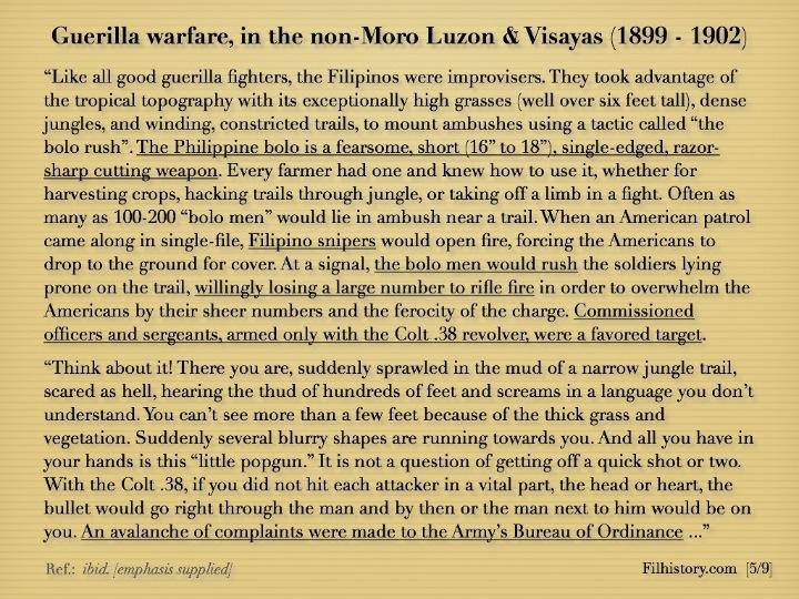 1911 .45 Caliber Pistol and Philippine History