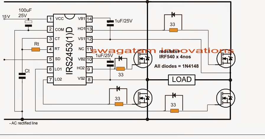 Simplest Full Bridge Inverter Circuit