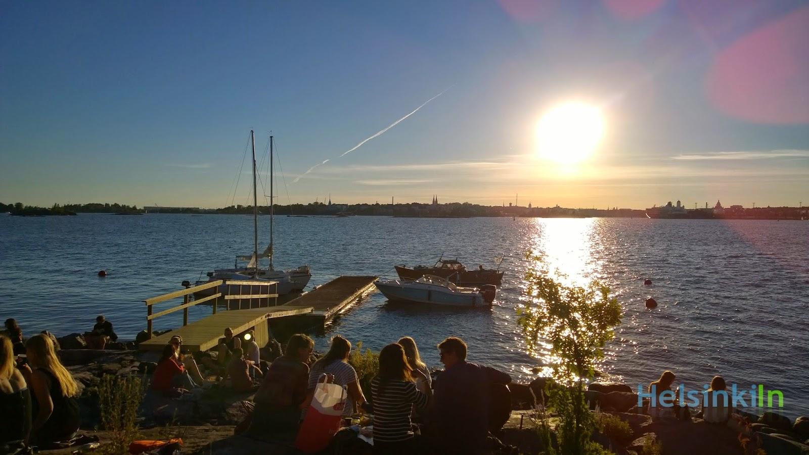 summer sunset at Lonna
