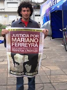 CRISTIAN PEREYRA, HIJO DE PAPELERO, TAMBIÉN PIDE JUSTICIA POR MARIANO