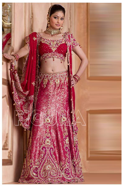 red indian wedding dress images