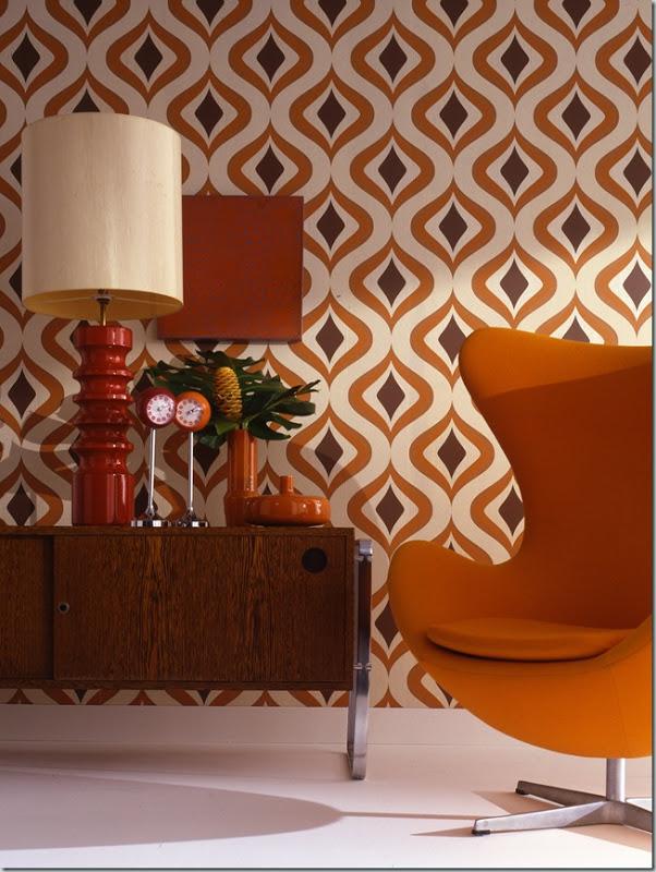 Design va de retro papel pintado de los 70 virlova style - Papel pintado de los 70 ...