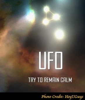 UFO Try To Remain Calm (Poster)