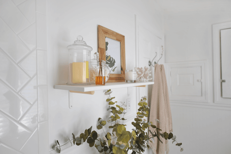 DIY IKEA Hack Modern Wall Shelf | Bathroom