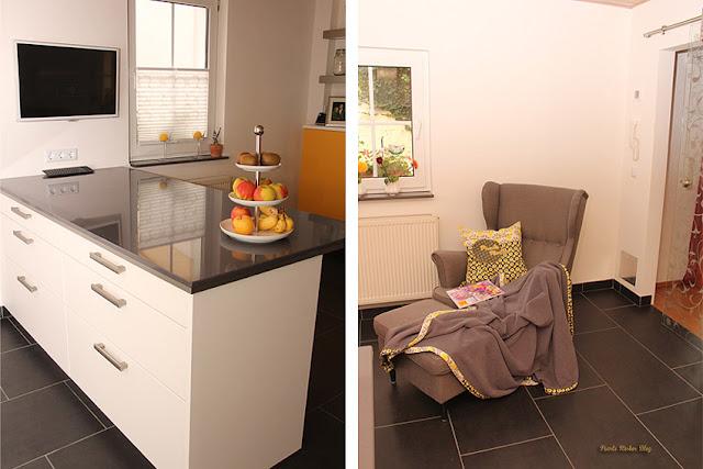 Schüller Küche Homestory Pearl's Harbor Blog Arbeitsplatte aus gegossenem Stein, Ikea Ohrensessel