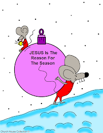 Free Christmas Mouse Coloring Page