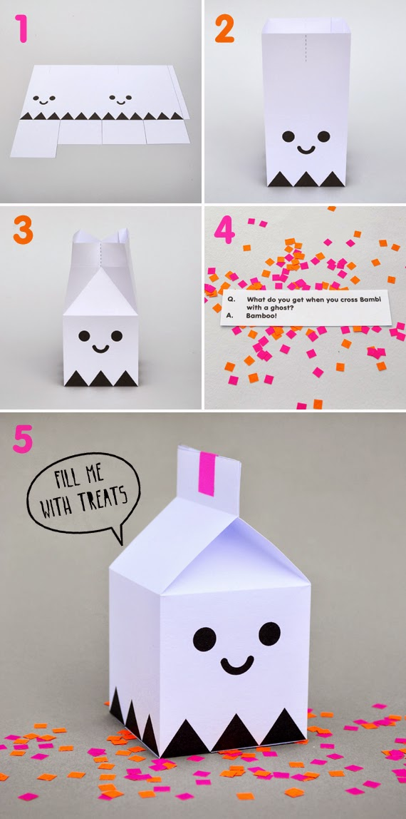 Cajas de Fantasmas Imprimibles para Halloween