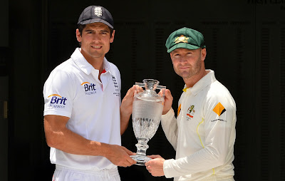 Ashes, Cricket, Test match, Cricket, Cricketer, England, Australia, Captain,  Alistair Cook, Michael Clarke, Gabba, Brisbane,  Ashes series, Trophy, Ground, Sports, Ashes Urn, Crystal,