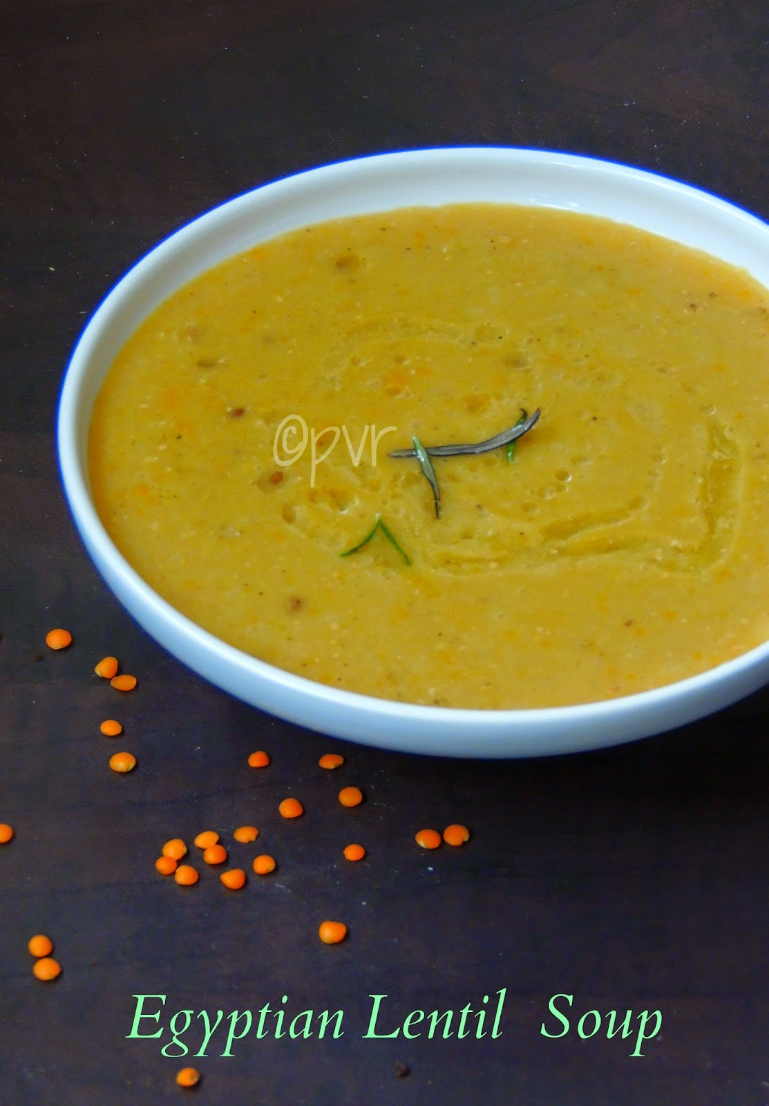 Vegan Egyptian Lentil Soup, Shorba adas, shorab ads, Egyptian Lentil Soup