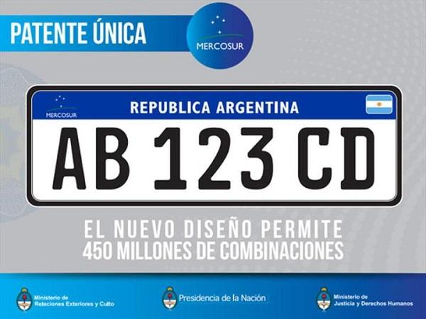 La nueva patente Mercosur regirá en Argentina a partir de Enero del 2016