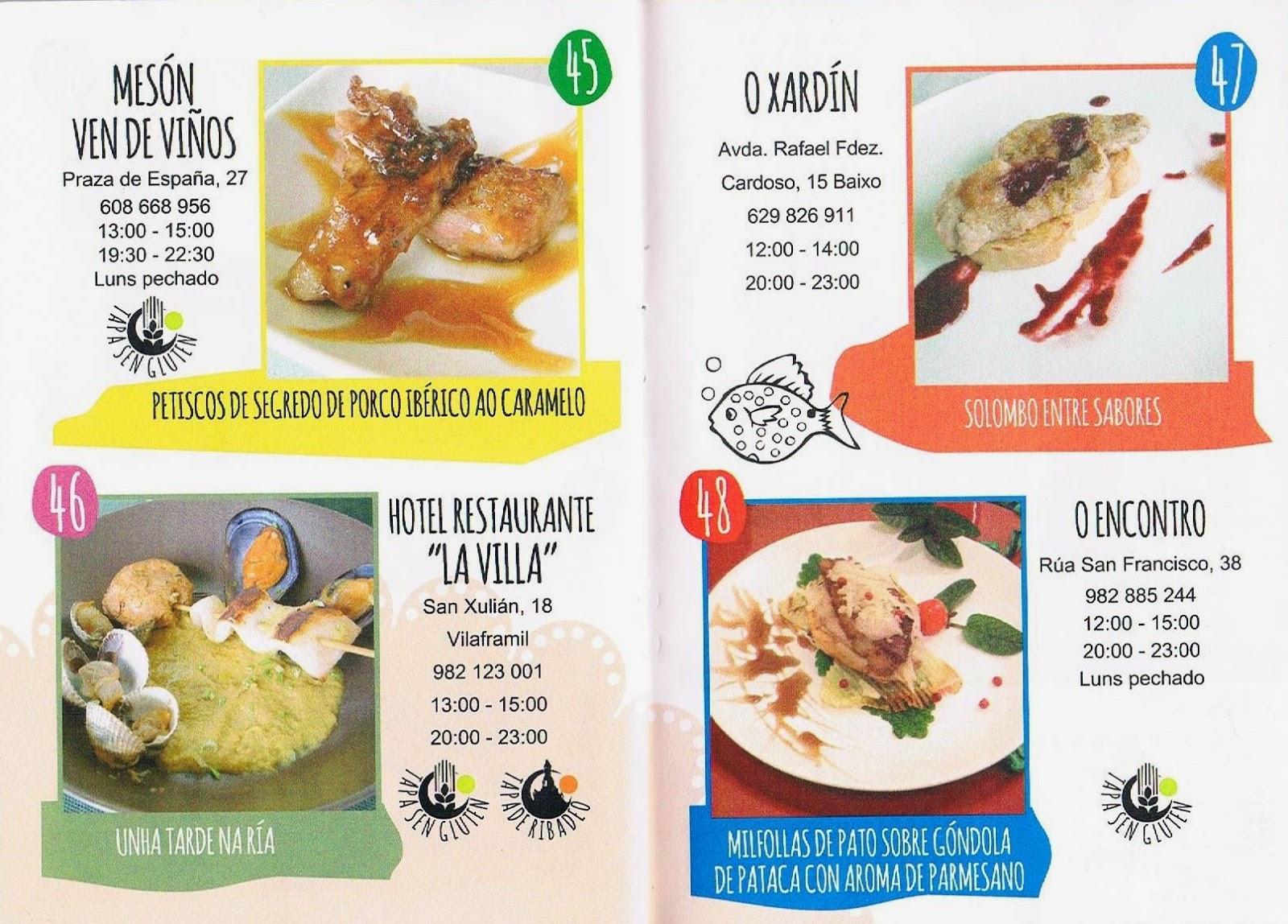 Gluten-free tapas Ribadeo de Tapeo