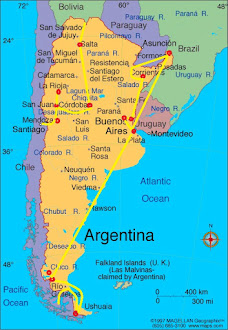 Argentina Route Map